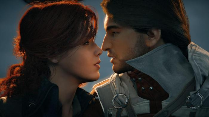 Assassin's Creed Unity Arno Elise Kiss Ubisoft
