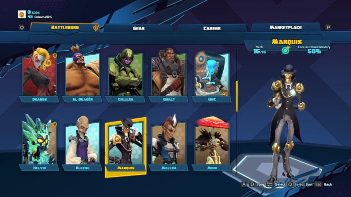 Battleborn Character Choice