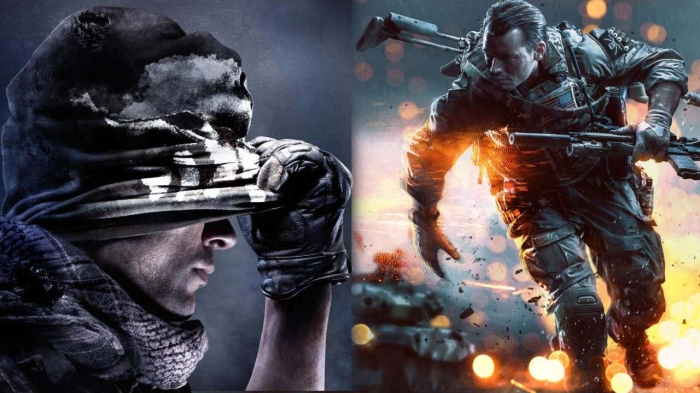 Call of Duty Battlefield Xbox Playstation vs versus