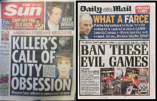 Daily Mail The Sun Video Games Evil Ban Censorship Over the Top