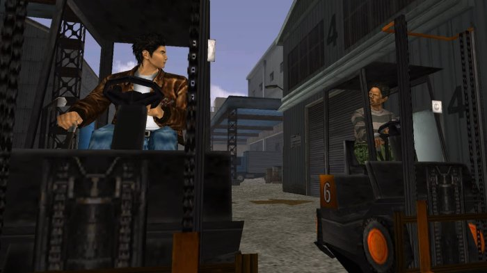 SHenmue forklift truck driving racing work