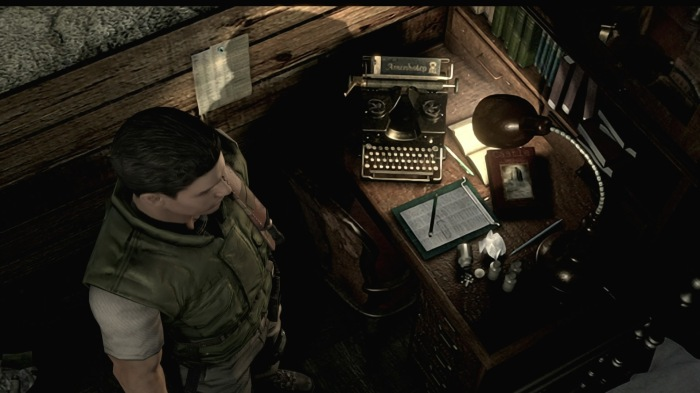Resident Evil Remastered TYpewriter Save Game Gamer Player Culture