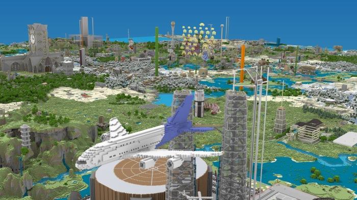 Minecraft create world plane