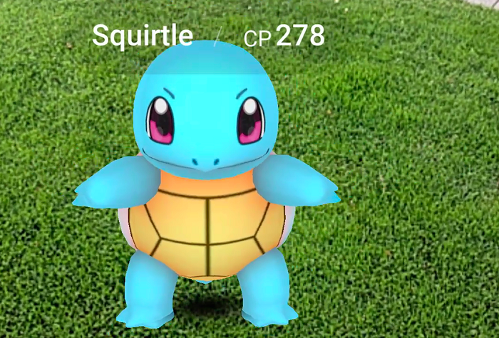 Squitrle Pokemon Go Android iOS WIndows Phone Nintendo Niantic Labs Mobile Game App
